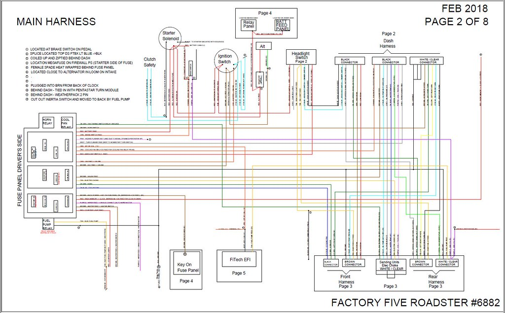 Finishing A Wiring Diagram For My Build. 6882 Roadster Wiring Diagram Pg 2 By D R On Flickr. Ford. Ford 2 9 Efi Wiring Diagram At Scoala.co