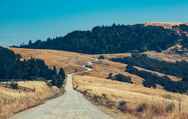 Bald Hills Winding Dirt Road - Redwood National Park to Martins Ferry, California