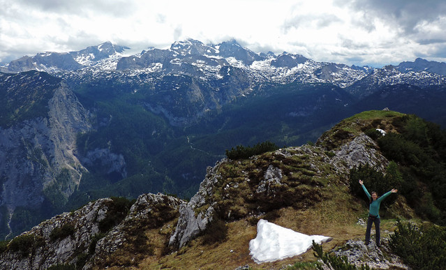 Hiking to Plassen, Alps, Austria