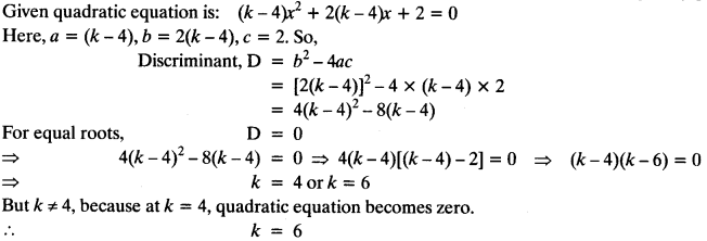 Quadratic Equations Chapter Wise Important Questions Class 10 Mathematics 108