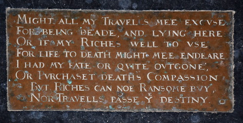 might all my travells mee excuse for being deade, and lying here (John Eldred, 1632)