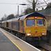 GB Railfreight 66763 + 66xxx - Biggleswade