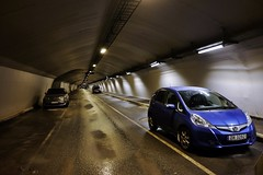 Cars in parking tunnel II