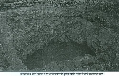 काचरिया में डबरी निर्माण से श्री भगवानलाल के कुएँ में रबी के सीजन में भी है पन्द्रह फीट पानी