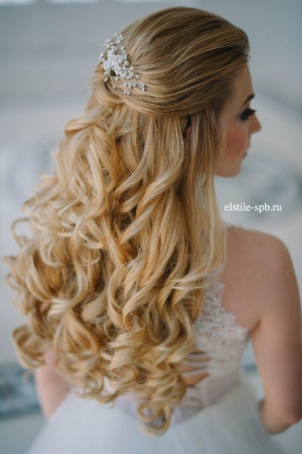 +10 Best Half Up Half Down Wedding Hairstyle Ideas 2