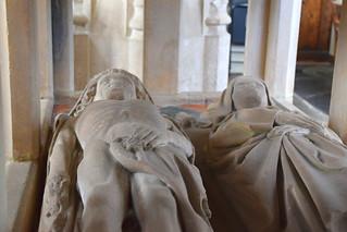 cadaver tomb: John and Katherine Denston, 1460s