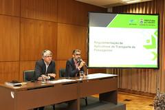 Coletiva sobre regulamentação dos aplicativos de transporte de passageiros