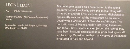 Michelangelo medal display text