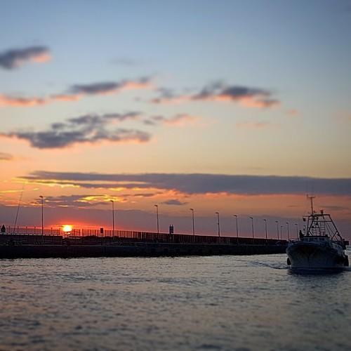 Tramonto al porto di Fiumicino