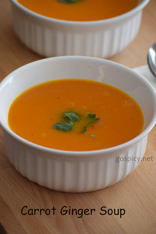 Carrot Ginger Soup Recipe by GoSpicy.net