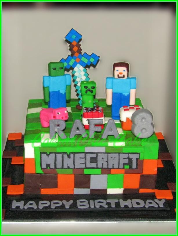 Cake Minecraft RAFA 15cm