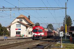 Alle | CH-JU (Jura) | 14.01.2018 | CJ-ABt 921 + RBDe 566 221 as train R 26447 Bonfol - Porrentruy in Alle station