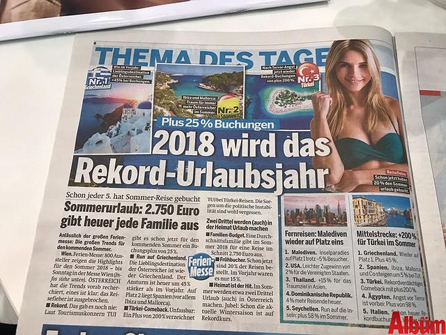 Avusturya'nın yüksek tirajlı gazetesi Özterreich, tatil için yabancı ailelerin Türkiye'yi tercih ettiğini yazdı.-2