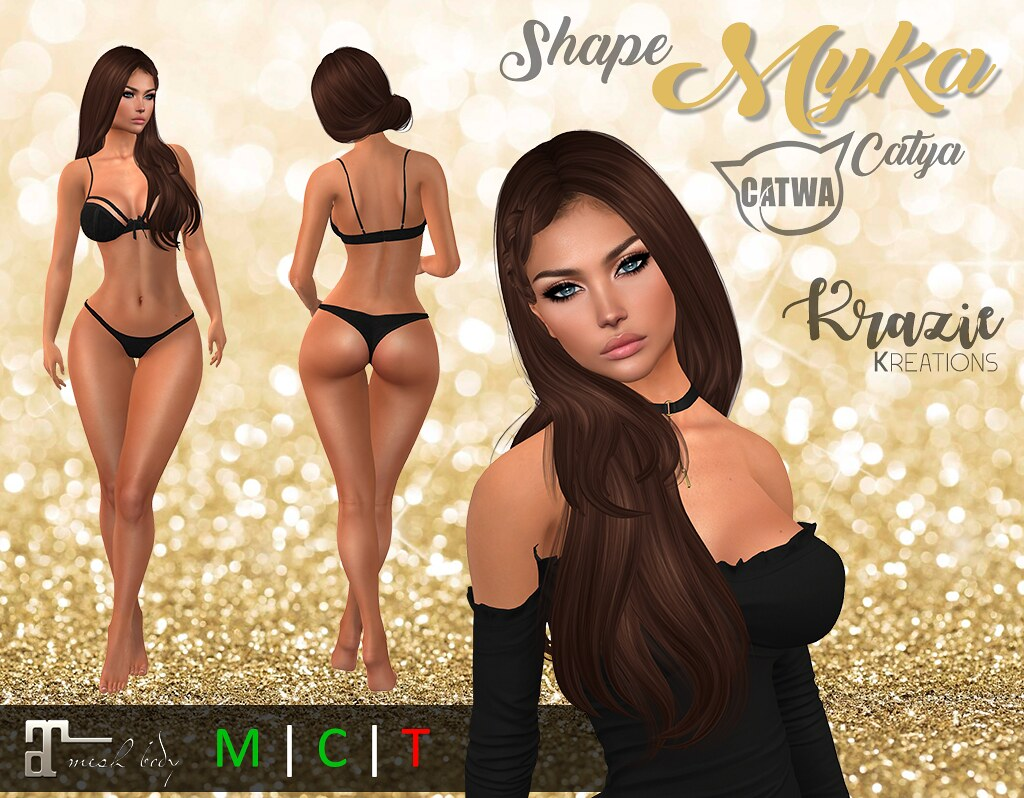 *Kk* Myka Shape for Catwa: Catya / Maitreya: Lara - TeleportHub.com Live!