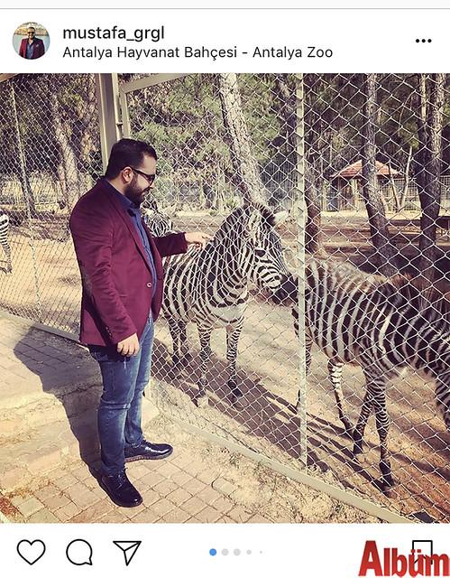 Mustafa Görgülü, Antalya Hayvanat Bahçesi'nde keyifli bir gün geçirdi.