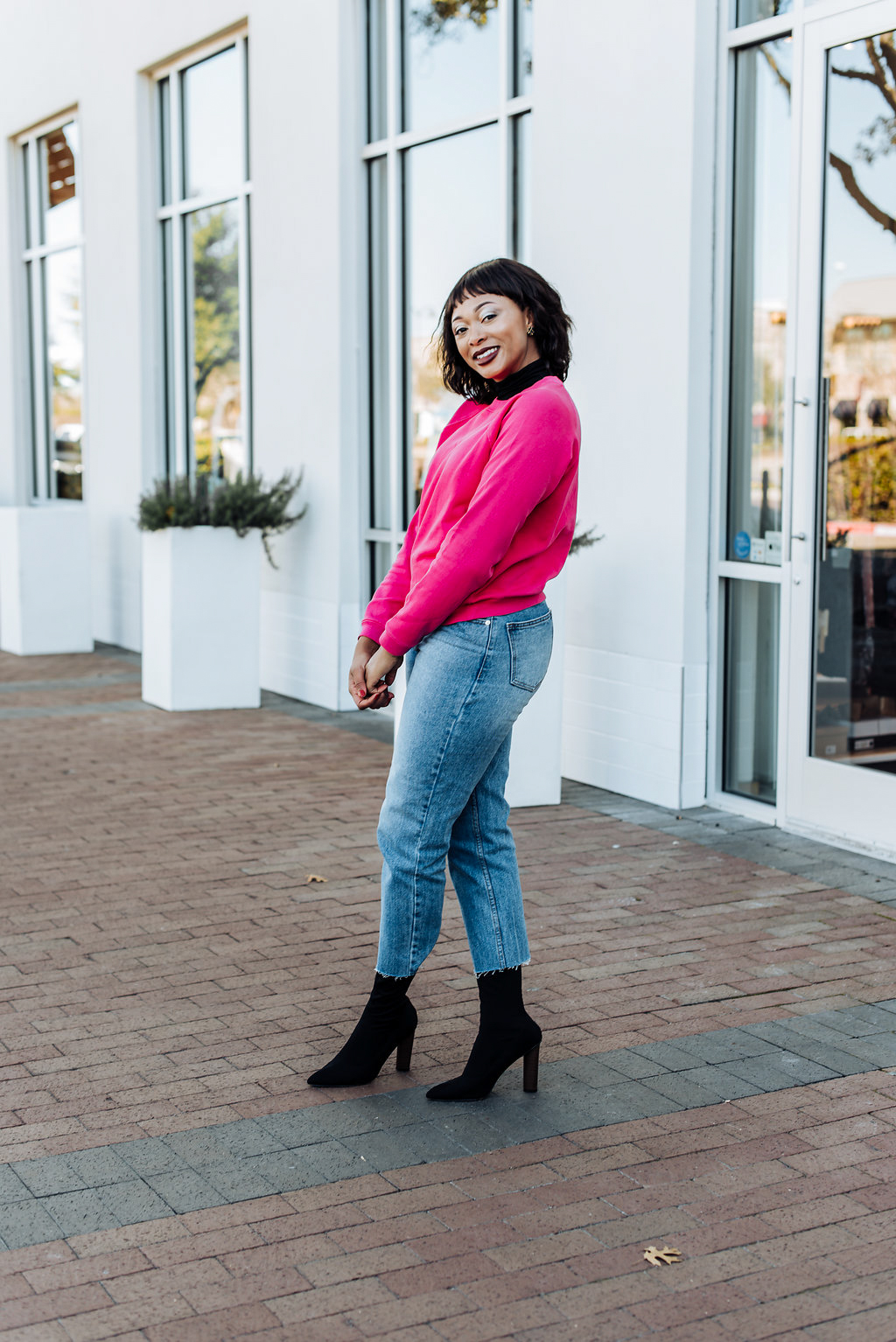 how to style crop length jeans, candace hampton