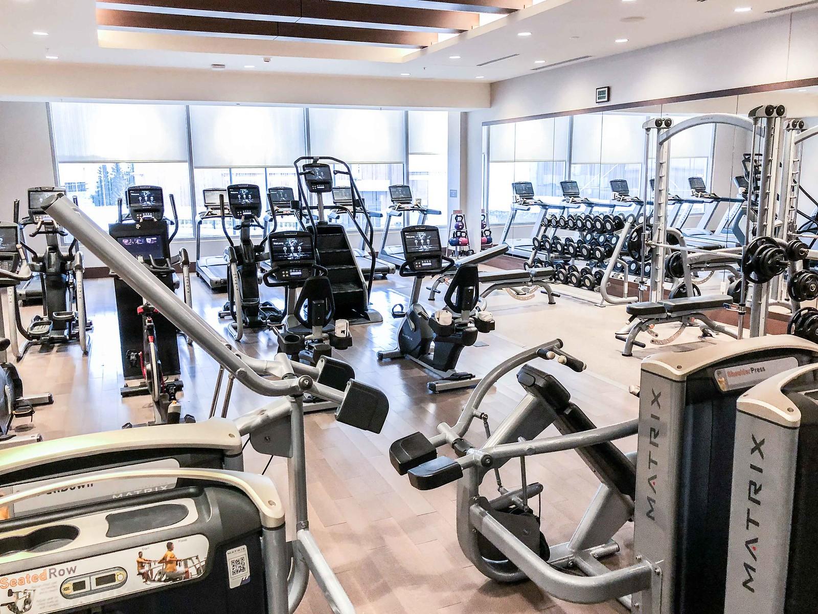 JW Marriott Minneapolis mall of America fitness center