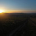 SDW: Sun setting over Combe Hill, Adur valley
