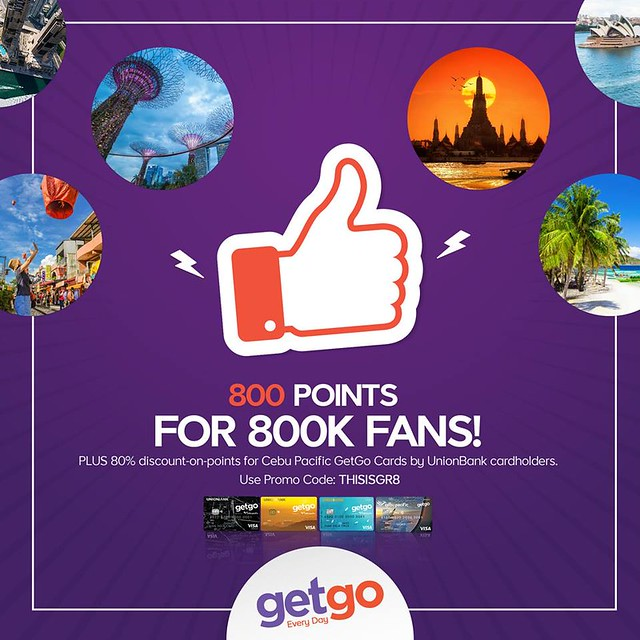 GetGo PH Sale 800 Points 2018