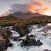 Sligachan Waterfall at Sunset
