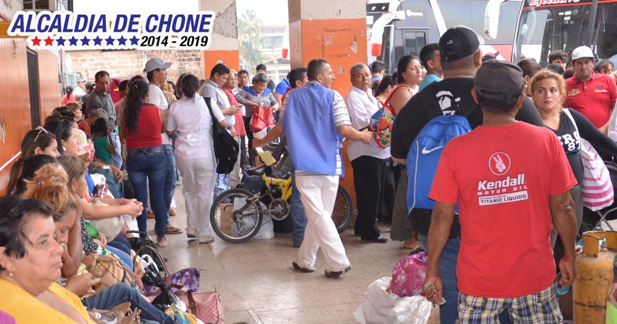 Más de 5 mil personas utilizaron la Terminal Terrestre durante el feriado