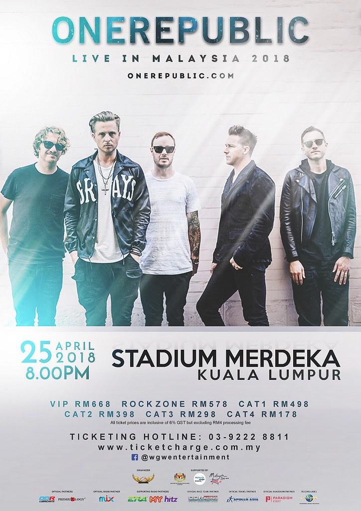 Konsert ONEREPUBLIC LIVE IN KUALA LUMPUR 2018
