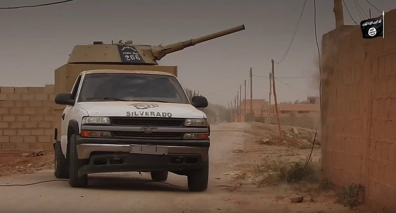 Chevrolet-with-BMP1-turret-captured-from-isis-in-syria-2017-spz-1