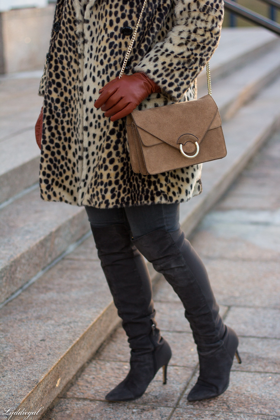 leopard fur coat, grey jeans, over the knee boots, camel sweater, winter outfit-19.jpg