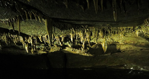 A set of reflections of stalactites called Marble Arch Cave near Enniskellen in Ireland, UK