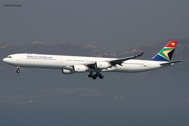 South African Airways (SA/SAA) / A340-642 / ZS-SNA / 01-30-2014 / HKG