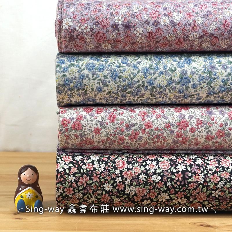 百花療癒 優雅碎花花園花卉 手工藝DIy拼布布料 CA450718