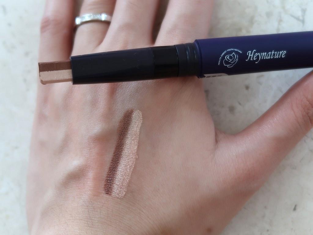 HeyNature Dual Eyeshadow swatch