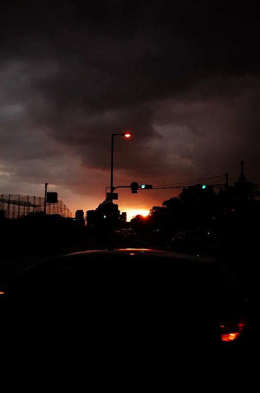 曇り空夕景