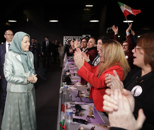 Maryam Rajavi attends IWD Conference entitled,