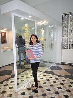 Ms Thu Hien at Ho Chi Minh City Museum
