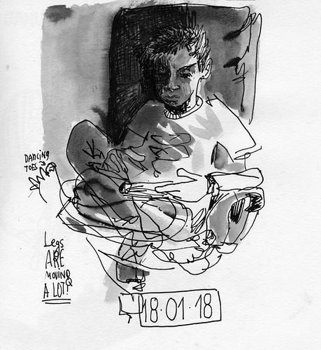 Sketchbook #111: Reading