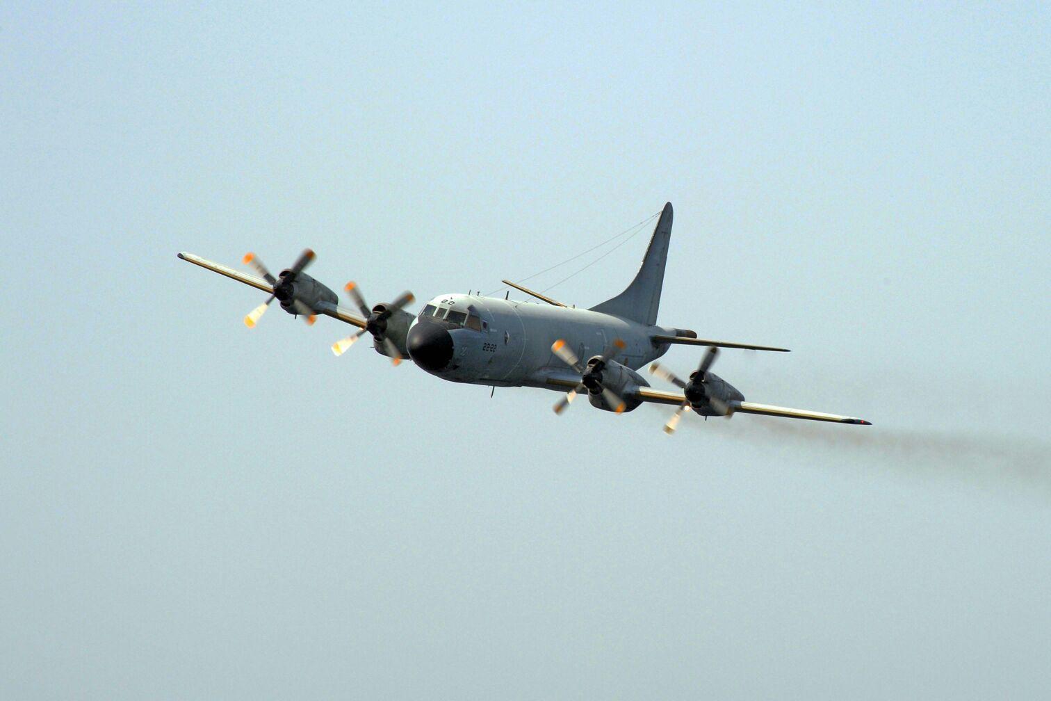 El P.3 M durante uno de sus vuelos