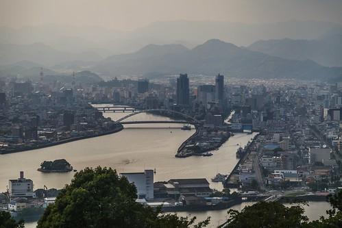 kochi kochishi shikoku godai japan island aerialview cityview city