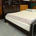 5ft high back solid wood bed frame E165