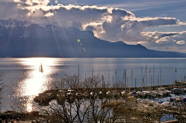 Sailing in Vevey
