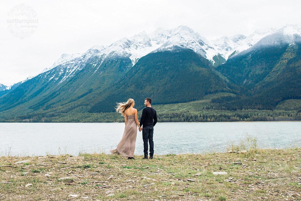 Engagement Session - Kinbasket Lake Mountain Elopement BC