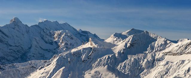 The Schilthorn Winter Panorama .Canton of Bern Switzerland. Izakigur  29 12 2017. no. 2.