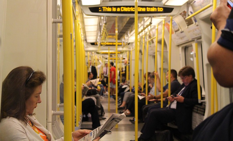 London Underground District Line train