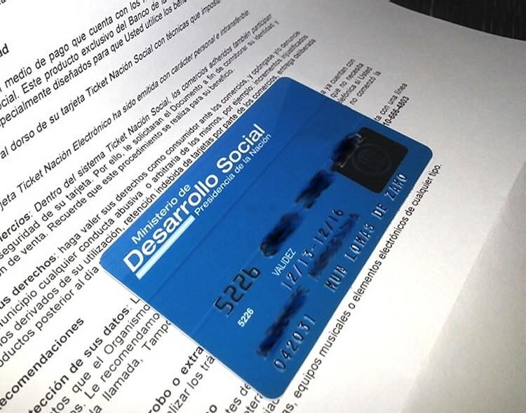 Tarjeta Azul Alimentos requisitos