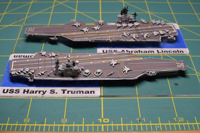 US Nimitz class Cold War Era US Modern Naval 1/2400 miniatures
