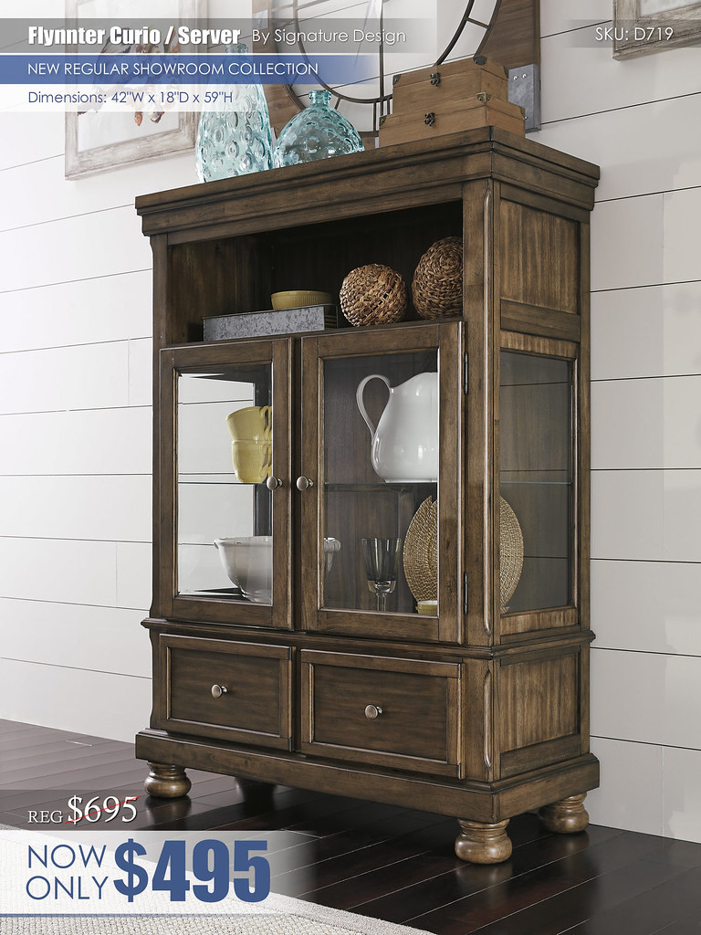 Flynnter Dining Server Curio D719-86