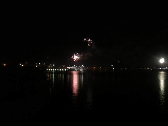 Fireworks over Rendsburg