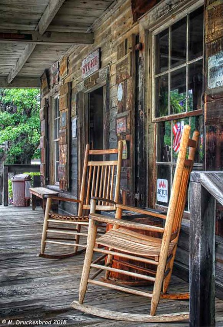 Rockers on the Front Porch, Old Sautee Store in White County, Georgia