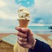 Summer, seaside, ice cream, holiday