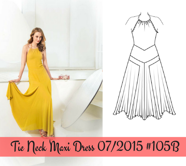 Tie Neck Maxi Dress